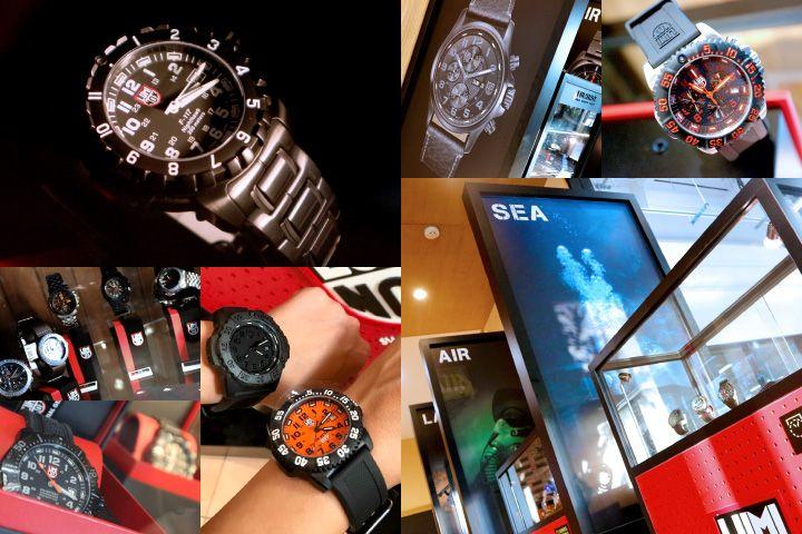 店内には人気のミリタリー時計ブランド「LUMINOX(ルミノックス...